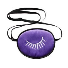 Amblyopia Eye Patches For Kids Soft Silk Material - Purple