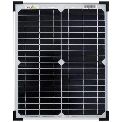 Offgridtec 001560 Mono Solar Panel Cell, 12V, 20W