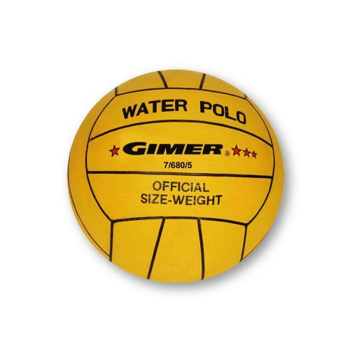 GIMER Water Polo Men, Football, Yellow, Number 5