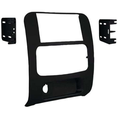 Metra 95-6524B 2002 to 2007 Jeep Liberty Double-DIN Installation Kit, Matte Black