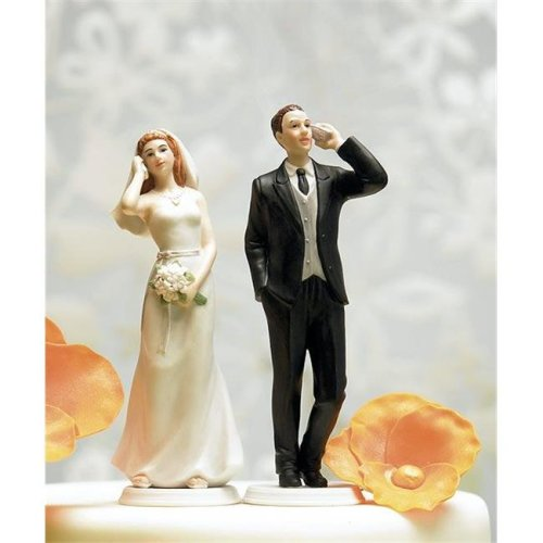 Weddingstar 8512 Cell Phone Fanatic Groom Mix & Match Cake Topper