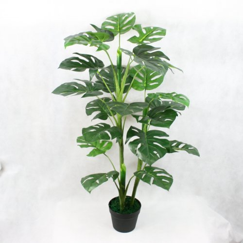 100 cm Artificial Monstera Plant Multi Branch Tropical Potted