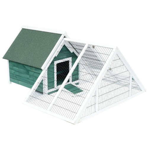 PawHut Chicken Coop With Run | Wooden Pet Hutch
