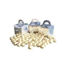 Pack of 6 Gold Foiled Chocolate Balls Filled Holographic Star Silver Cube Balloon Weight Favour Boxes