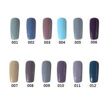 12 Colors Gray Color System Nano Nail Art UV Gel Polish Soak-off 12ml