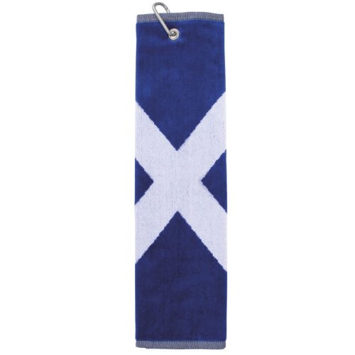 Saltire Golf Towel with Clip For Golf Bag Attachment