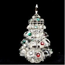 Crystal Glass Xmas Tree Ornament