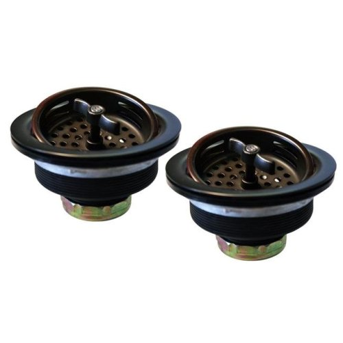 Westbrass D2135-12 Two Wing Nut Style Large Kitchen Basket Strainer in Oil Rubbed Bronze