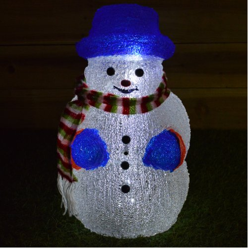 50cm Motion & Sound Activated Snowman Christmas Decoration Lights up & Sings