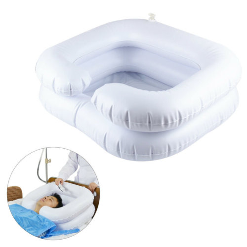 Iflatable Portable Basin Sink Wash Hair In Bed at Camping Travel Indoor