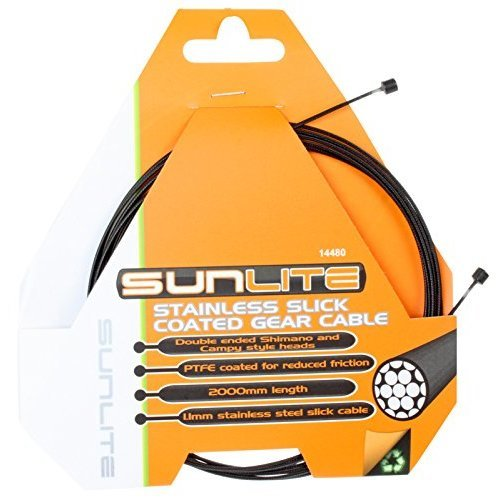 Sunlite Gear Cables Individually Bagged 1 1 x 2000mm SSPTFE Shimano amp Campagnolo