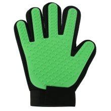 Vinsani [Green] Pet Grooming Glove Brush Massager, Pet Hair Remover Mitt Deshedding Glove - Perfect for Dogs & Cats with Long & Short Fur