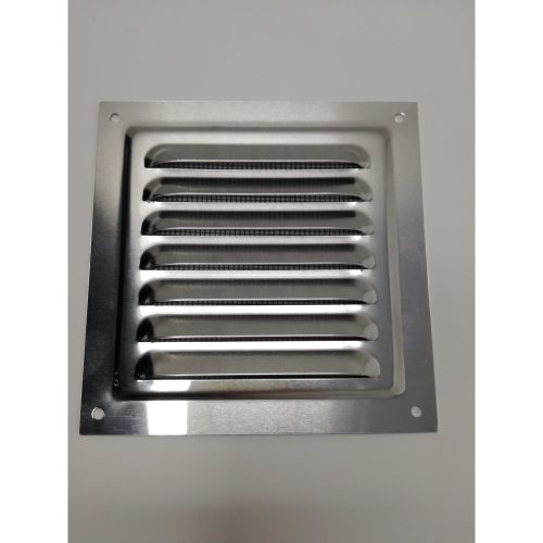 Air Vent Grill - 125 x 125 mm - Metal - Aluminium Rust Free with Mosquito / Bug Net