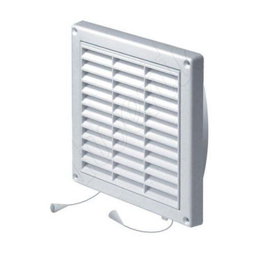 Wall Ventilation Grille Duct Cover with Net Pull Cord and Shutter 130-200mm