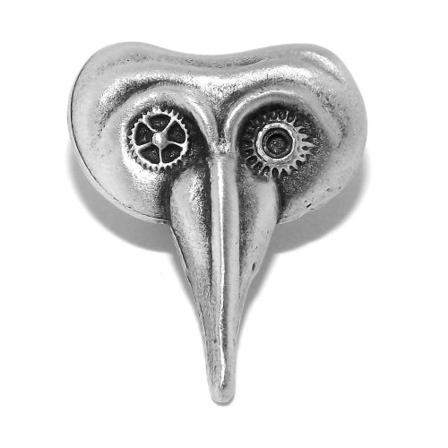 Steampunk Venetian Mask Pewter Pin Badge / Brooch