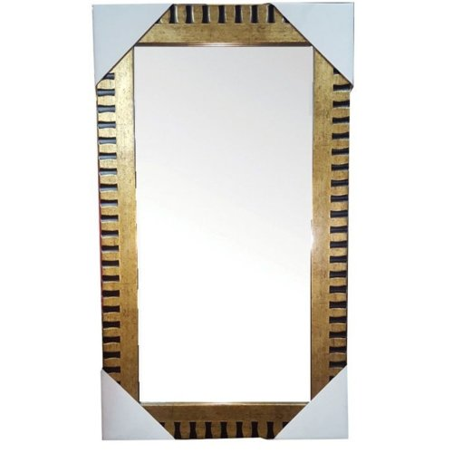 Rammento Gold Black Wall Mirror 59 X 29 Cm With Hanging Kit Mounted