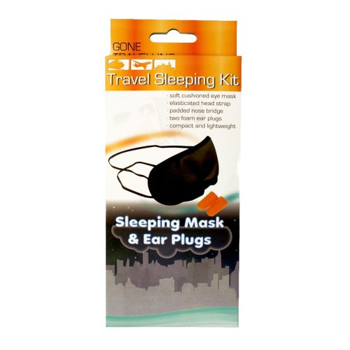 Travel Sleeping Kit With Mask & Ear Plugs - Gone Travelling -  travel sleeping kit mask ear plugs gone travelling