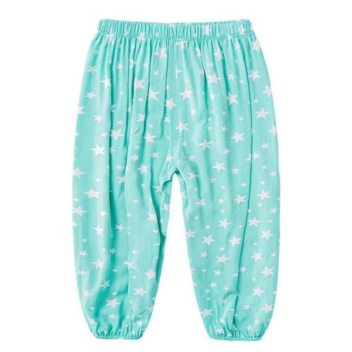 Comfortable Soft Children's Trousers, Green And Five-pointed Star