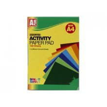 A4 100 Sheet Activity Paper Pad With 8 Colours -  sheet activity paper a4 100 pad 8 colours sheets arts crafts stationary