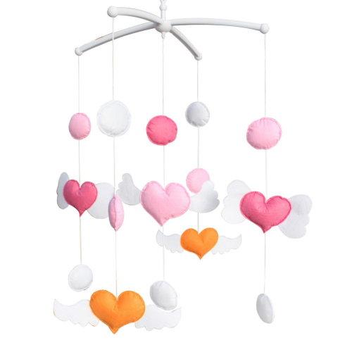 Colorful Baby Toys [Sweetheart] Baby Crib Rotatable Musical Mobile