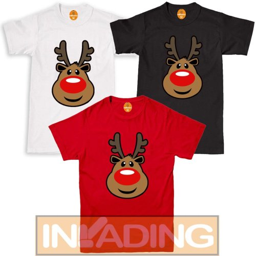 Kids Adult Christmas Reindeer Rudolf T Shirt