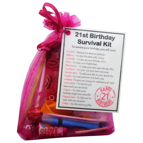 21st Birthday Survival Kit - An excellent alternative to a card