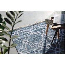 Rug - Cotton - Denim - Handmade - Blue - ADIYAMAN