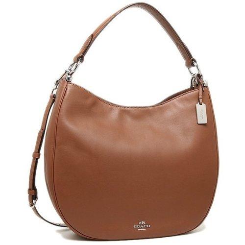 COACH Nomad Hobo in Glovetanned Leather Handbag - Beige - 36026-SV/SD
