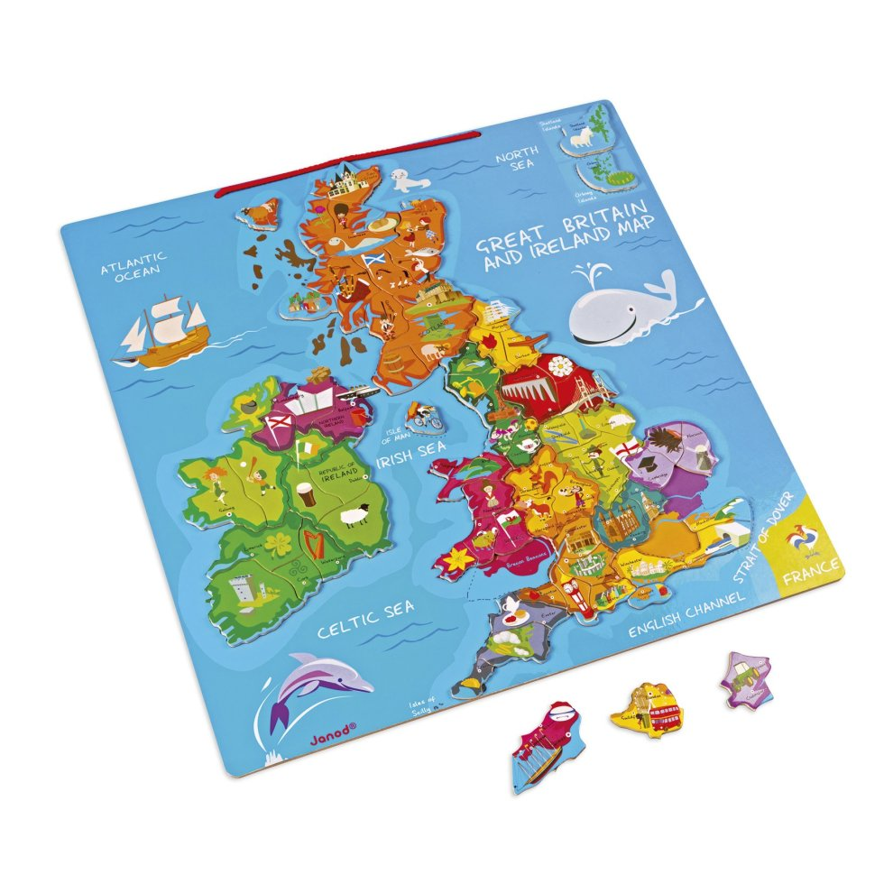 Interactive Jigsaw Map Of Ireland.Janod Jura Toys J05484 Magnetic Great Britain And Ireland Map