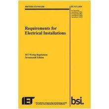 Requirements for Electrical Installations, Iet Wiring Regulations, Bs 7671:2008+a3:2015