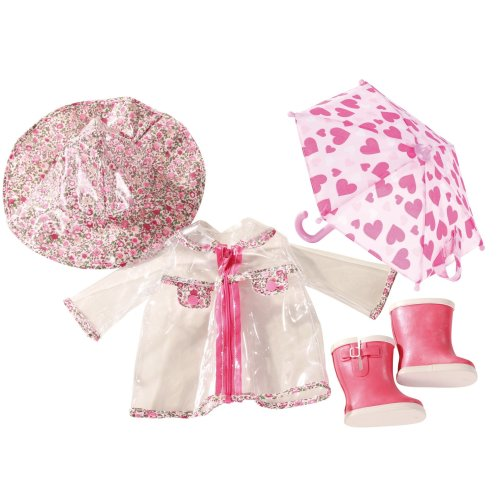 Götz 3402190 Standing Doll Set April Weather - Size XL - Dolls Clothing / Accessory Set - Suitable For Standing Dolls Size XL (45 - 50 cm)