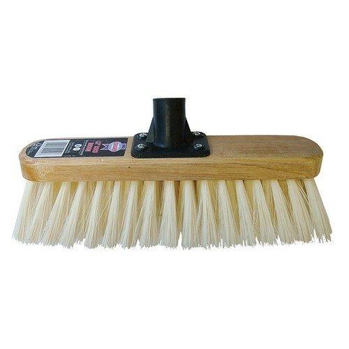 Faithfull FAIBRSOFT12R Broom Head Soft Cream PVC Bristle 300mm (12in) Threaded Socket