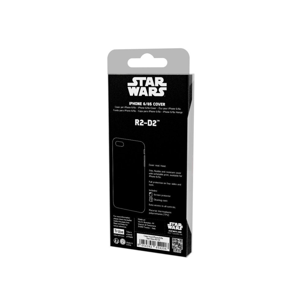 Tribe CAI10707 Star Wars - Apple iPhone 6/6s Bumper Case I TPU Silicone  Protective Case I Thin Cover for iPhone 6/6s - R2D2