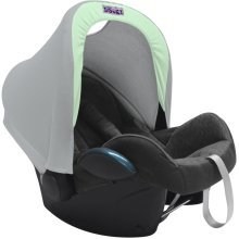 Dooky Hoody Replacement Infant Car Seat Hood Mint Grey