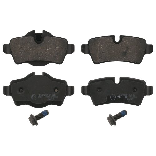 febi bilstein 16742 brake pads with screws (Set of 4) (rear axle)