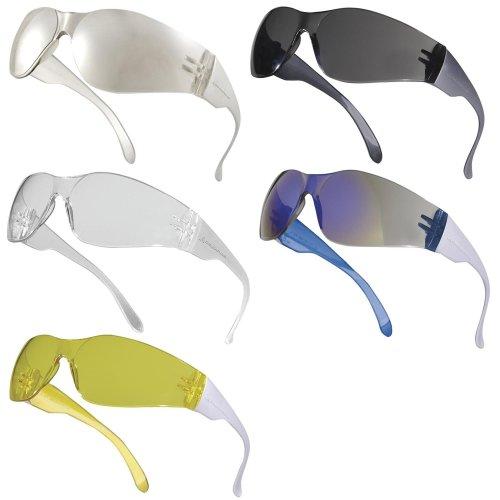 Delta Plus BRAVA Monobloc Polycarbonate Single Lens Safety Spectacles / Glasses (Various Colours)