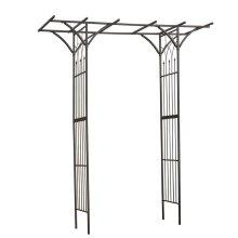 Nature Garden Archway 114x66x232 cm Steel Black 6040801