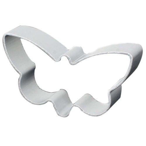 3 Pcs DIY Aluminum Butterfly Shape Cookies Cut Baking Mold