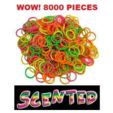 8,000 pieces Ultimate Loom Band Set, Scented Loom Bands & Neon & Glow