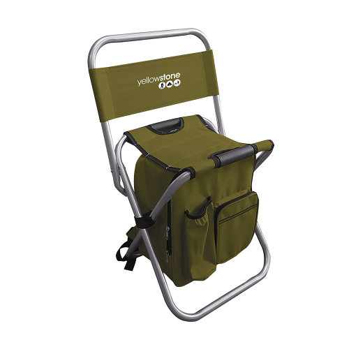 Yellowstone Fishing Chair Use As Rucksack When Folded Lightweight Colour Green