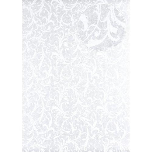 Atlas PRI-523-5 Baroque wallcovering wall shimmering grey-white 5.33 sqm