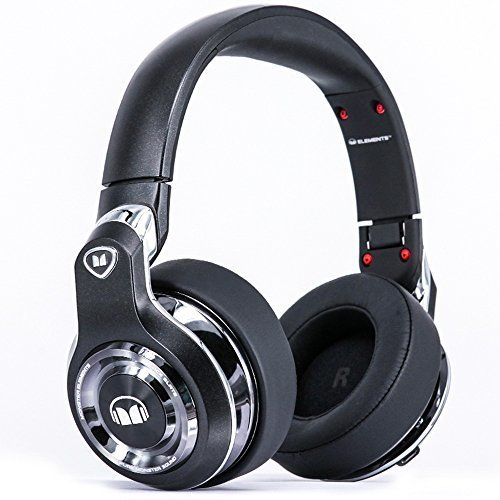 Monster Elements Over Ear Bluetooth Headphones Black Slate Cutting edge over ear swipe controls Stylish Design 24 hrs listening