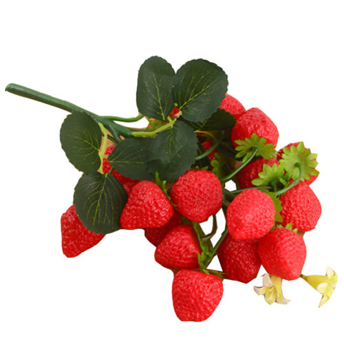 Artificial Fruits Plastic Strawberry Sets Play Toys
