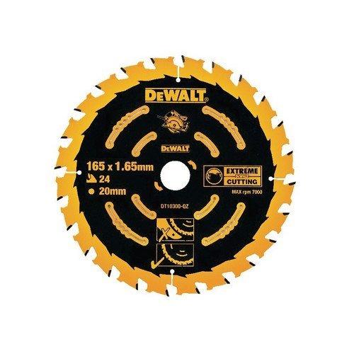 DeWalt DT10300-QZ Circular Saw Blade 165mm x 20mm x 24 Teeth Corded Extreme Framing