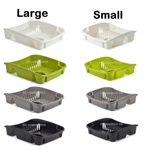 Plastic Large/Small Dish Drainer Kitchen Sink Cup,Plates,Cutlery Storage Rack