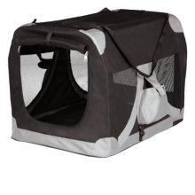 Mobile Kennel, M: 50 × 50 × 70 Cm, Black/grey - Trixie Dog Transport Hut De -  trixie dog transport hut de luxe various sizes new