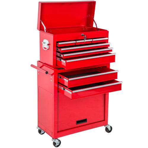 Tool chest with 8 drawers red