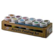 12 Colour Acrylic Painting Set -  acrylic set painting 12 colour