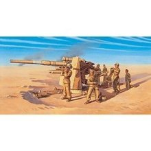 8.8cm FLAK 37 AA Gun with Crew-MILITARY 1:72 FAST ASSEMBLY-Italeri 7512