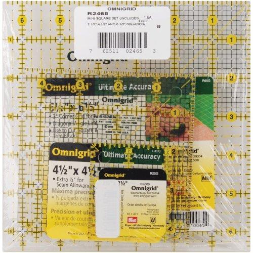 Omnigrid Mini Square Set 3/Pkg-